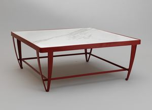 ZIG ZAG GF4023CT-SQ, Square coffee table in red iron