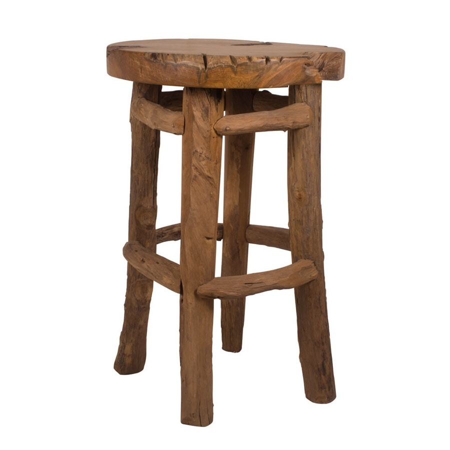 Radice 0498, Stool in solid wood, for outdoor use