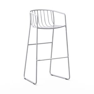 Randa nude ST, Stool in painted steel