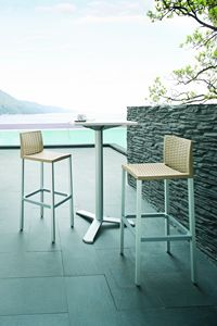 Teo, Stool for bars and restaurants, for outdoor use
