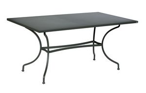 Ascot, Outdoor table in galvanized iron