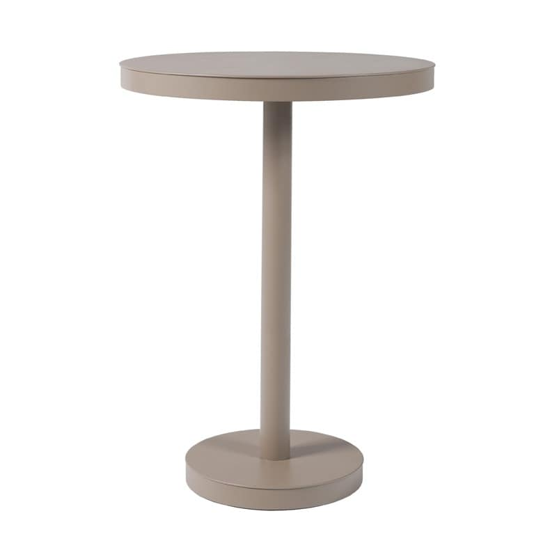 Basel 110, Weather-resistant high table, in aluminum, for bars