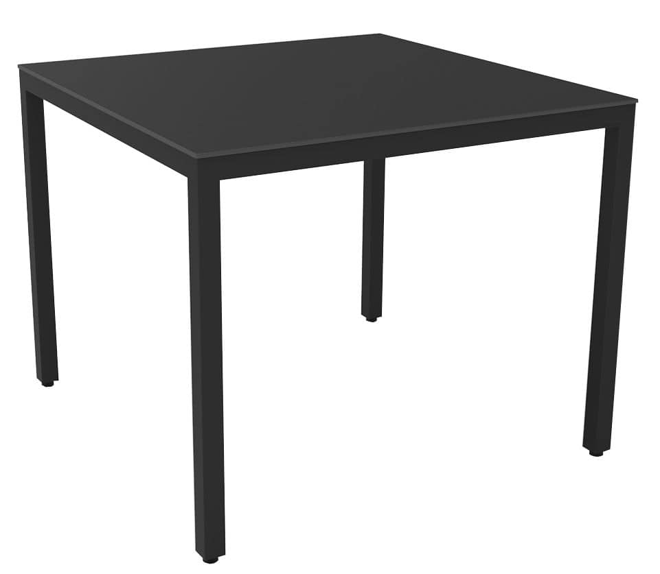 Bea 7070 Compact, Square table with aluminium frame ideal for residential use and bar