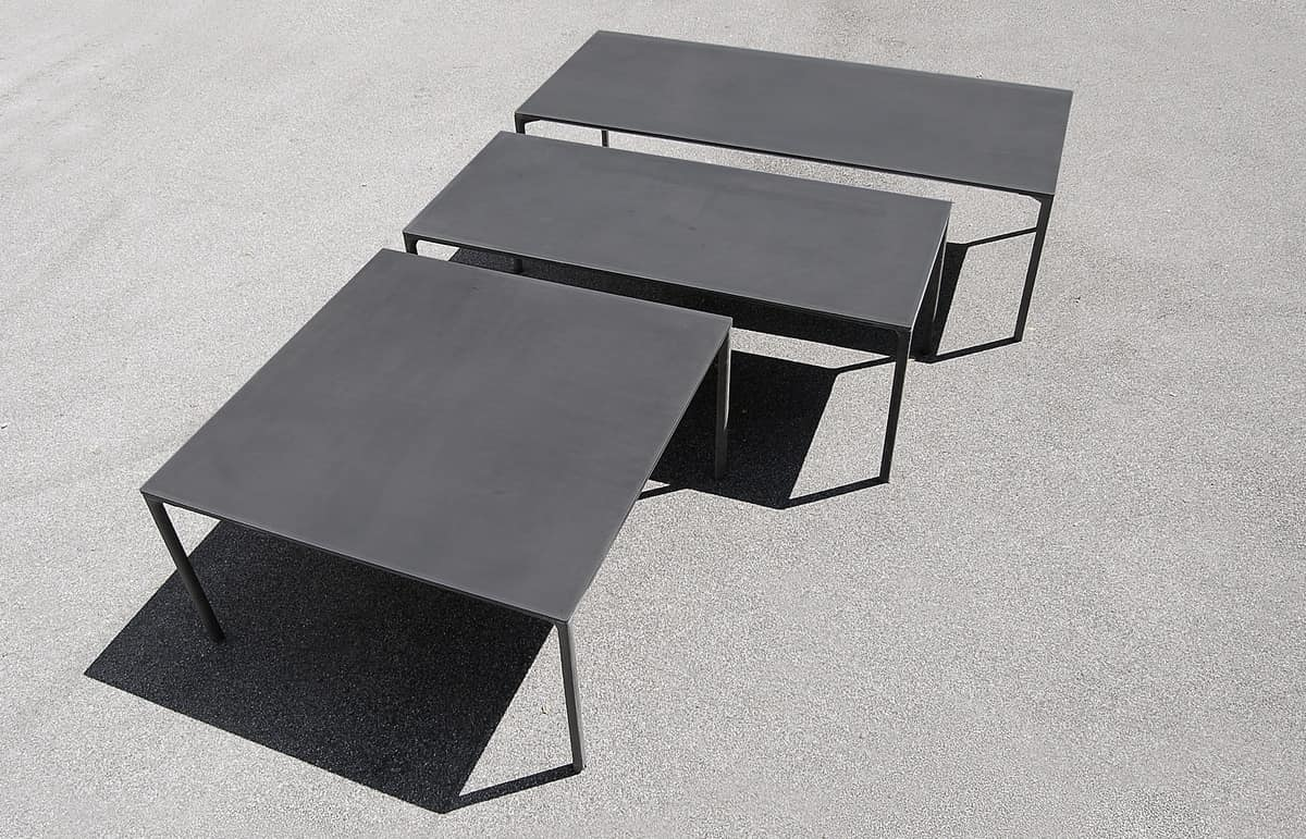 Boiacca rectangular, Rectangular table made of concrete, for external