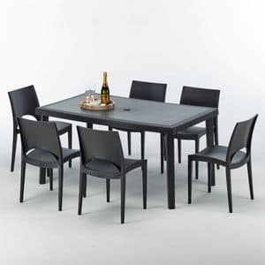 Chairs and table outdoor removable garden � S7050SETA6, Outdoor table, high-quality, modular