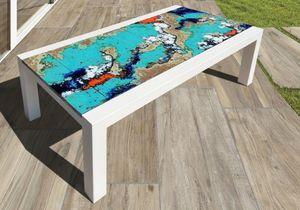 Colorado Laguna, Table with ceramic-coated lava stone top