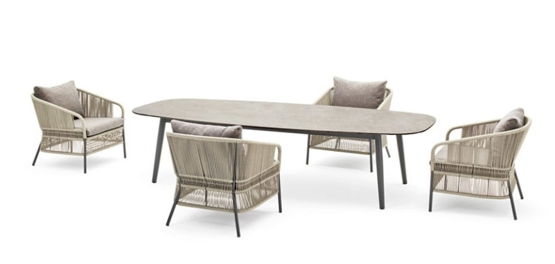 Ellisse low table, Outdoor coffee table