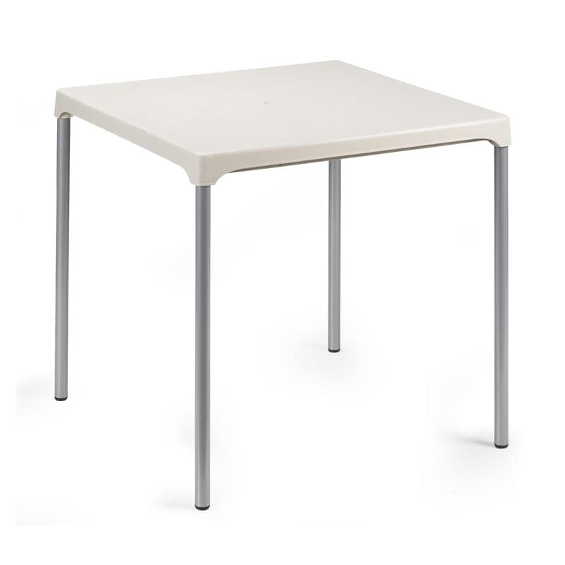 Ermes, Table in aluminum and polypropylene, for outdoors