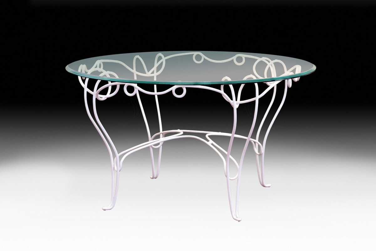 Filo outdoor table, Round outdoor table