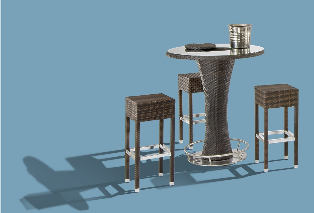FT 2000, Outdoor high table with glass top