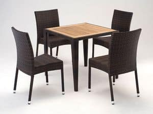 FT 2025.80 - London, Forniture set with tapered leg, for outdoor and terrace