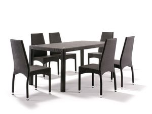 FT 2030/200, Fully intertwined table for gardens