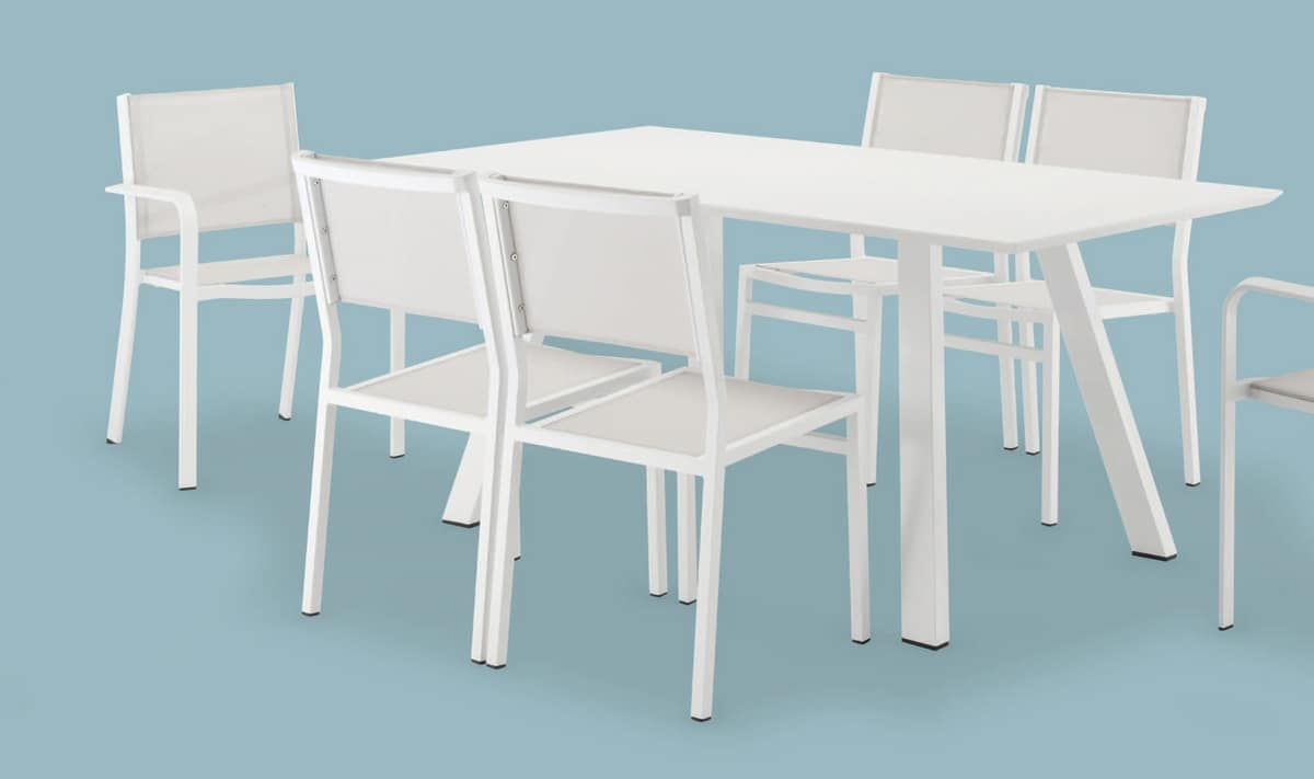 FT 742, Table in painted aluminum, for bars and gardens