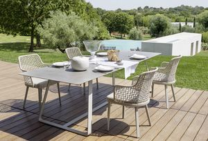 Kolonaki, Table with steel base, for outdoor use