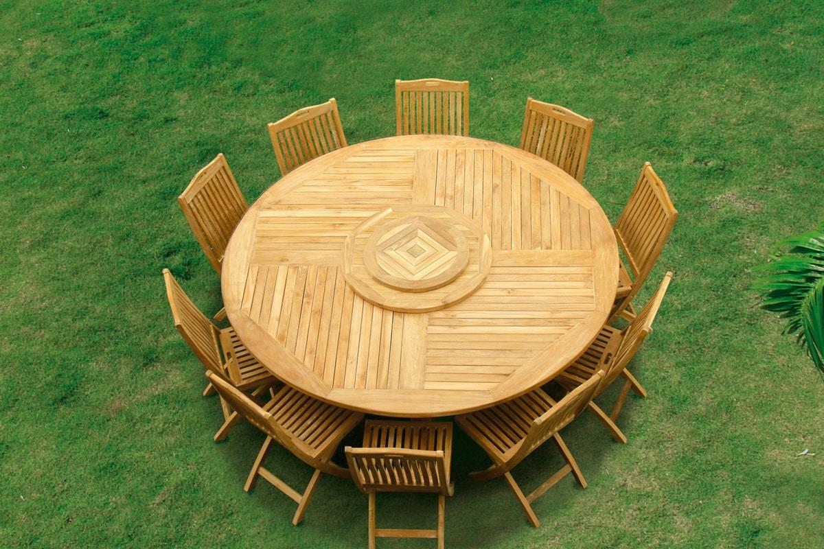 Macao 0439, Huge outdoor table in teak wood