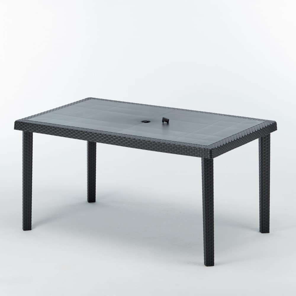Poltrona Boheme Grand Soleil.Table With Parasol Hole For Bars And Gardens Idfdesign