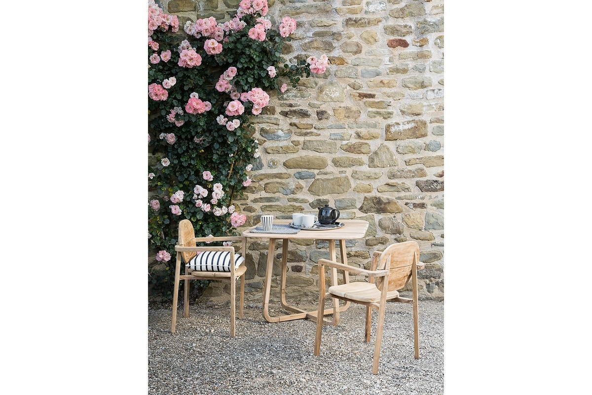 Pebbles 0482, Outdoor square folding dining table