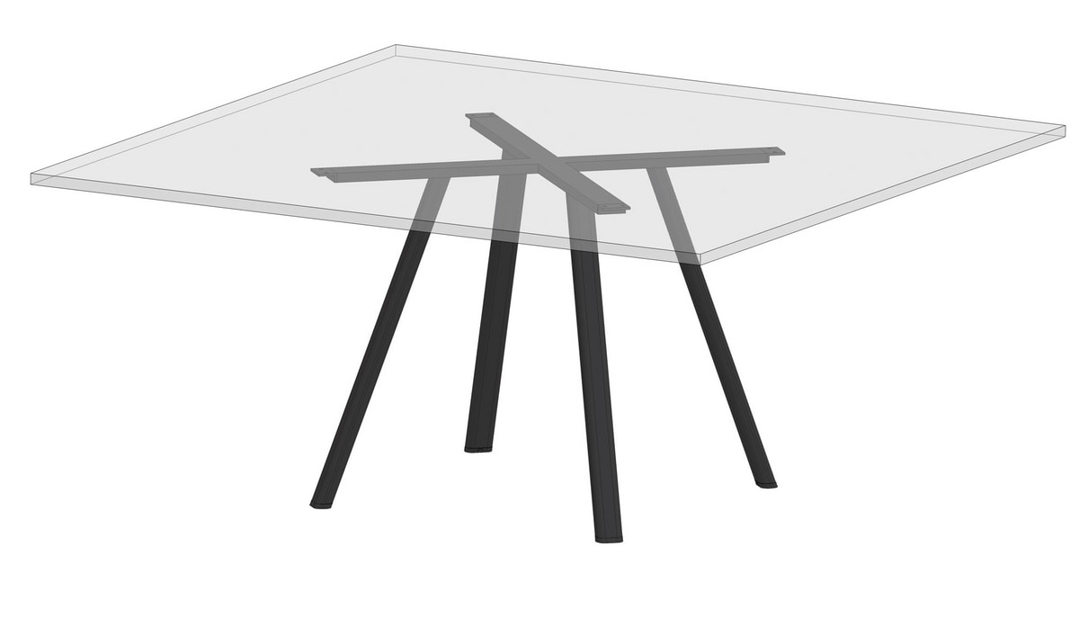 Surfy Hub 2027 - Outdoor 2027 square, Square table also for outdoor