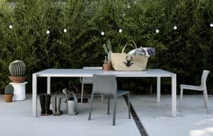 Sushi Outdoor, Extendable table minimalist, for gardens and outside