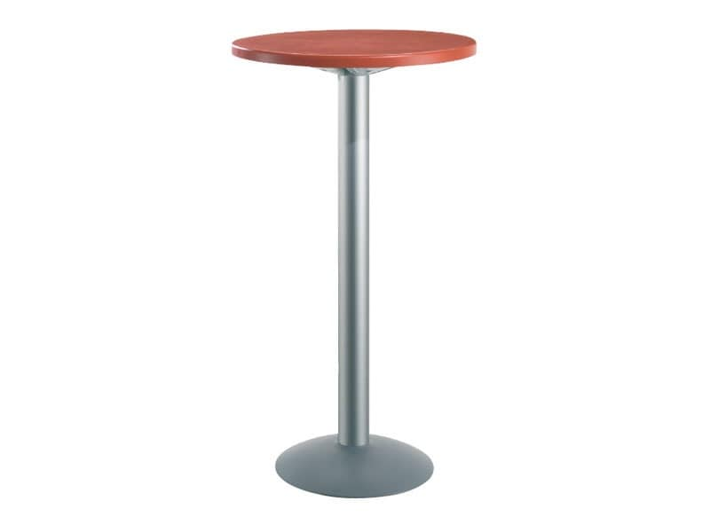 Table Ø 60 h 110 cod. 08/BT, High round table for bars, polymer top