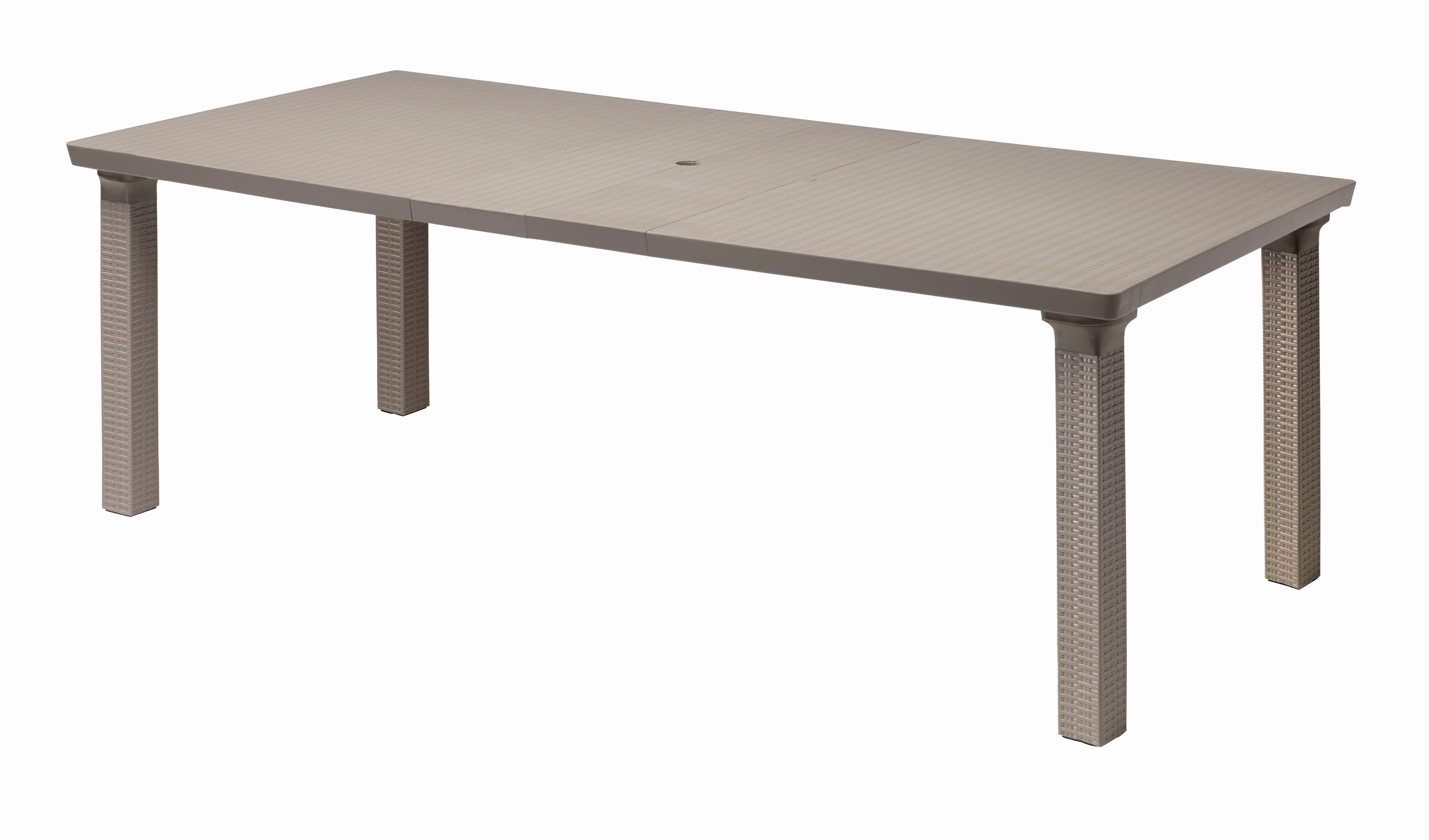 Triplo, Outdoor rectangular table, extendable