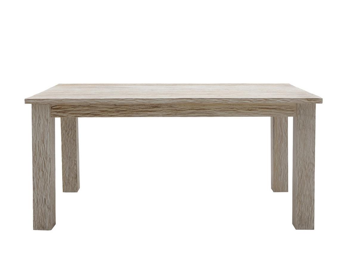 White Sand 6401, Rectangular table in bleached teak