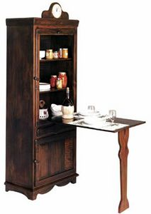 Art. 260, Rustic pantry cabinet with table