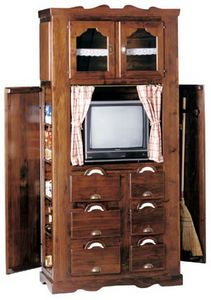 Art. 343, Rustic cabinet with tv stand