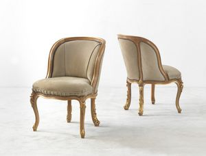 4207, Outlet chair, with gold details
