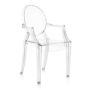 Louis Ghost, Transparent armchair at outlet price