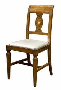 Pavia CE.1961.T, Inlaid Italian 18th century style chair