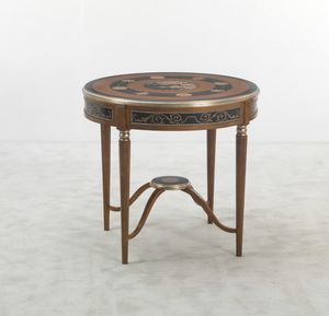 5647, Round side table, citronnier finish