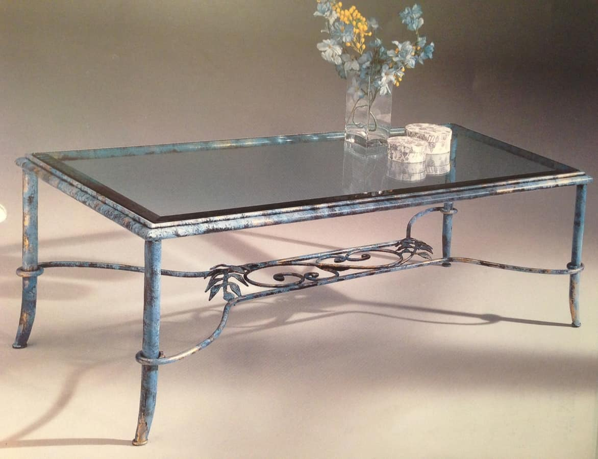 Diva 087/T, Small table in glass and wrought iron