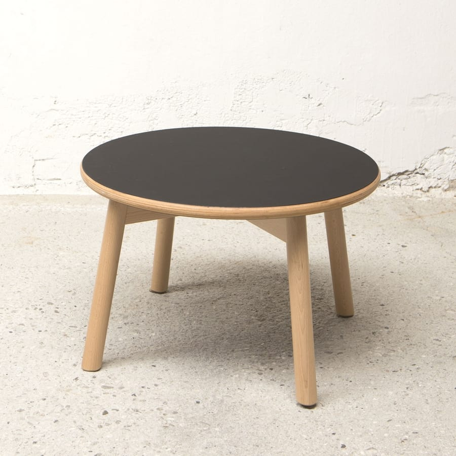 Round small table diam.50 cm, Outlet coffee table in wood, with round top