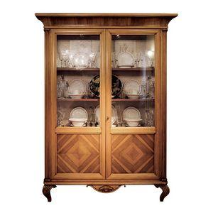 Brahma LU.0015-0, Two-door showcase in glass and wood