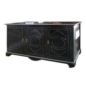 Blesle black VS.4457.N-0, Louis XIV sideboard with three doors and three drawers