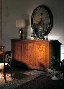 Blesle nut VS.4457.N, Louis XIV sideboard with three doors and three drawers