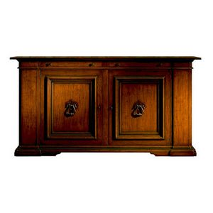 Poppi ME.0457.R, Large 16th-century-style Tuscan oak sideboard with two doors and two drawers