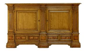 Scarlino ME.0471.R, Oak sideboard with two doors and four drawers