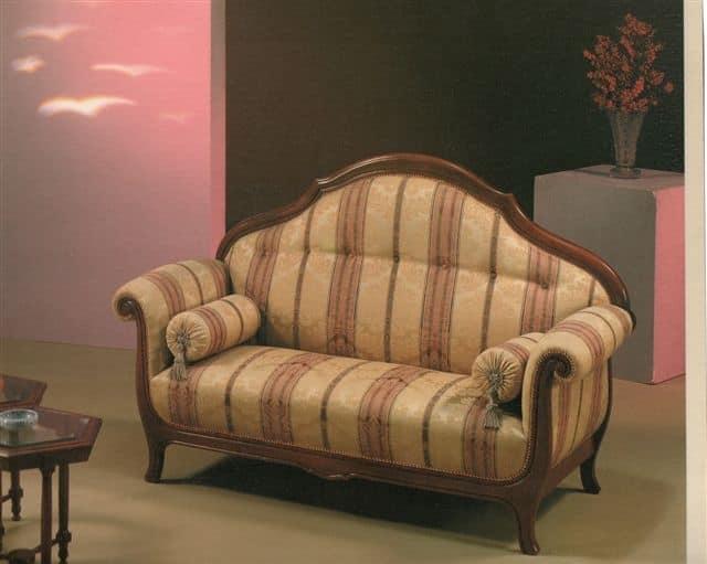 2045 SOFA, Sofa with striped fabric