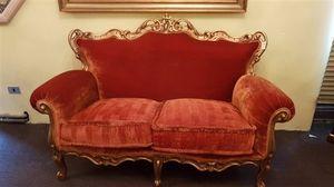 3195 SOFA, Classic sofa in red velvet