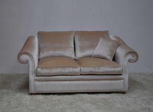 Chelsea sofa, Comfortable outlet sofa in velvet
