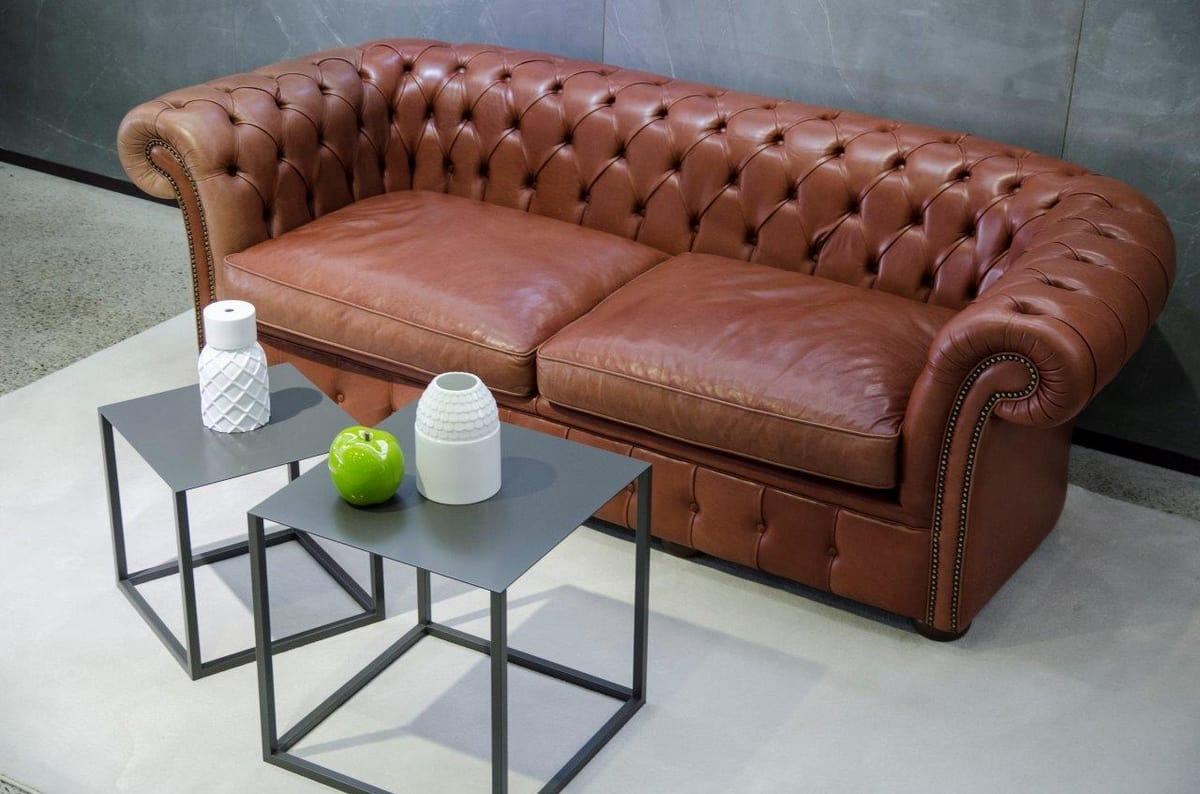 Chester outlet, Leather sofa at outlet price