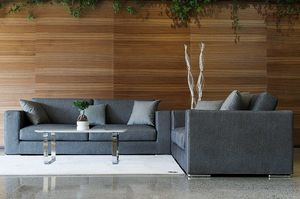 Dorian, Sofas in  jeans fabric, with removable upholstery