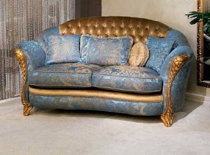 Elettra capitonn� outlet, Elegant classic sofa at outlet price