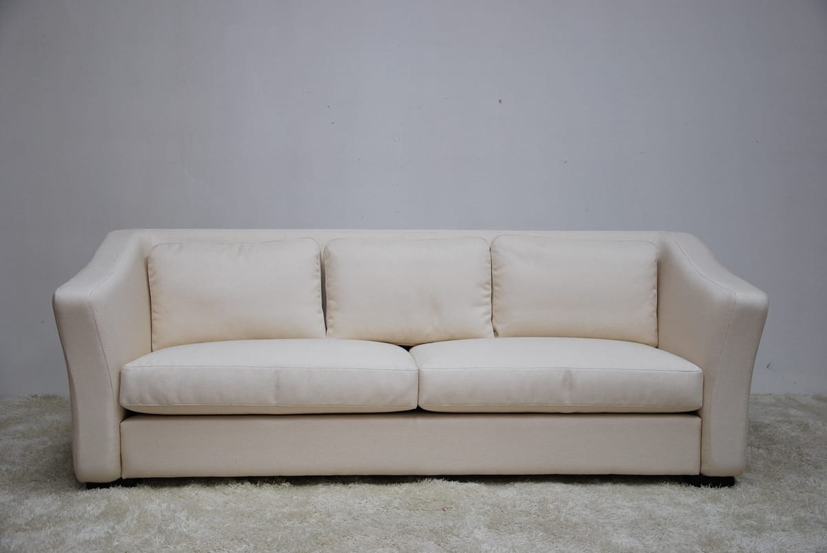 Outlet Sofa In Ivory Fabric | IDFdesign