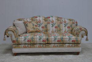 Rebecca sofa 2p, Classic sofa with floral fabric