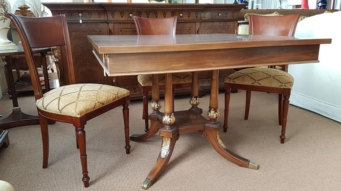 2845 TABLE, Square dining table, outlet price