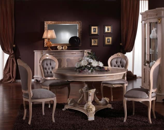 3640 TABLE, Classic style round table, outlet price