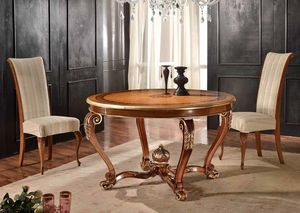 Round table, Round extendable table